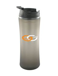 14 oz laguna matte surface travel mug - smoke