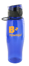 24 oz quenchers sports bottle - blue