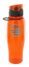 24 oz quenchers sports bottle - orange