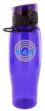 24 oz quenchers sports bottle - purple