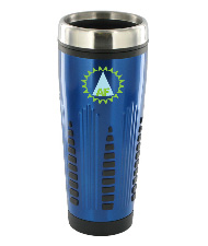 16 oz rocket travel mug - blue