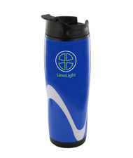 14 oz tango travel mug - blue