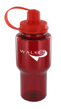 22 oz yukon sports bottle - red