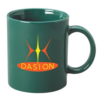 11 oz personalized coffee mug - green