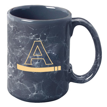 15 oz marbleized el grande ceramic mug - dark gray