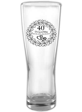 16 oz Oslo personalized pilsner glass