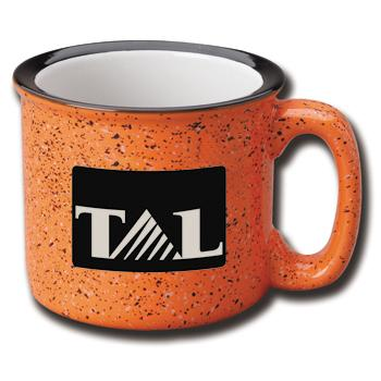 15 oz campfire stoneware mug - orange out