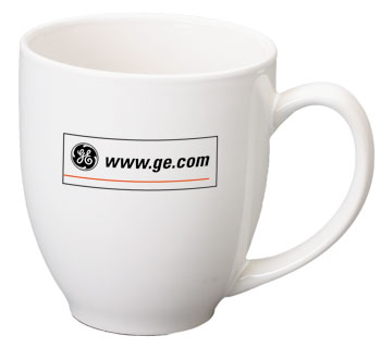 15 oz glossy bistro coffee mugs - white