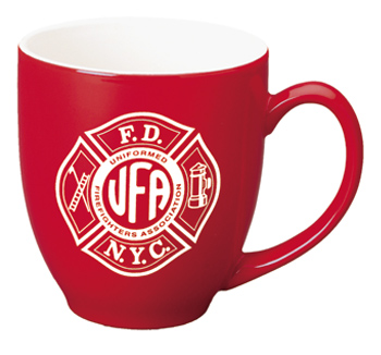 15 oz glossy bistro coffee mugs - red out