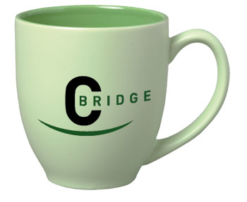 15 oz matte finish bistro mug  - green