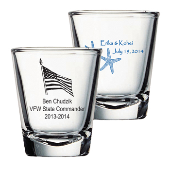 Customized 2 oz shot glass - clear