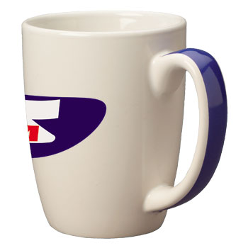 11 oz accent color handle mug - cobalt blue