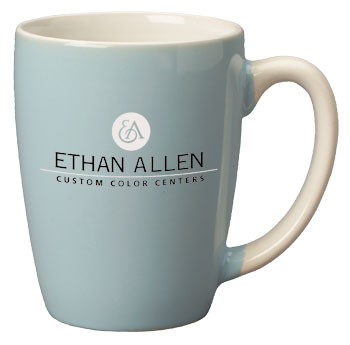 12.5 oz san diego pastel mug - powder blue out - white in