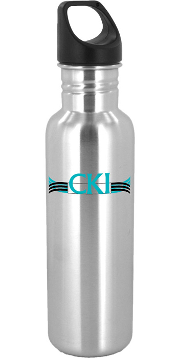 26 oz excursion stainless steel sports bottle - silver