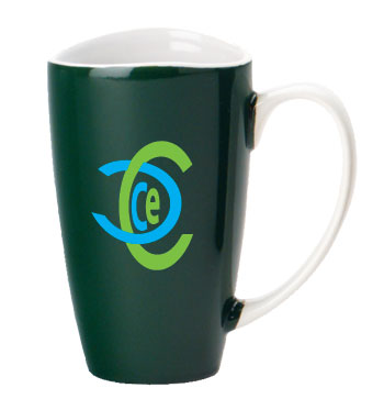 17 oz santa barbara coffee mug - green