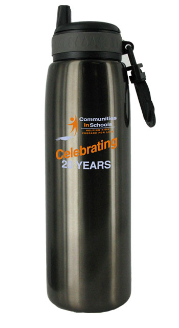 26 oz charcoal quench stainless steel sports bottle