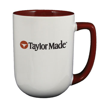 17 oz bakersfield two tone coffee mugs - maroon