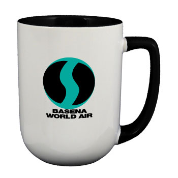 17 oz bakersfield two tone coffee mugs - black