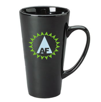 16 oz topeka latte mug - black