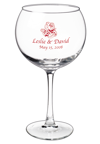 19.25 connoisseur personalized red wine glass