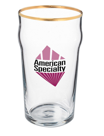 19 oz lager promotional beer glass