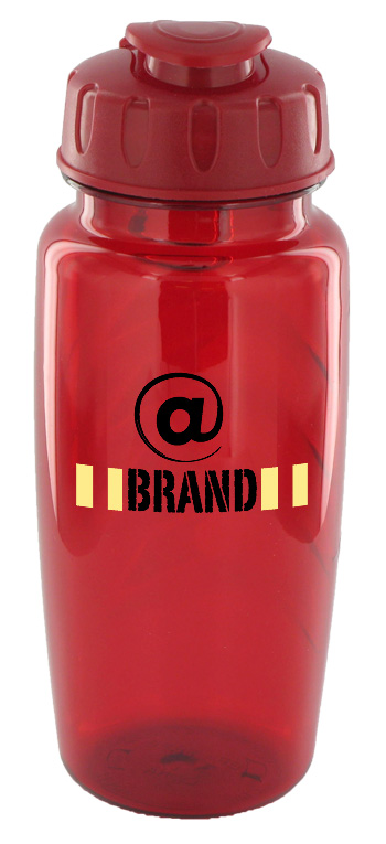 25 oz nautilus sports bottle - red