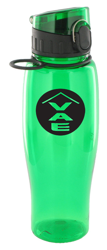 24 oz quenchers sports bottle - green