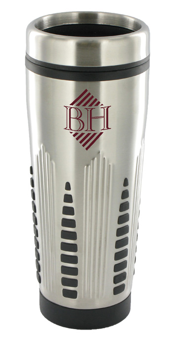 16 oz rocket stainless steel insulated travel mug - silver