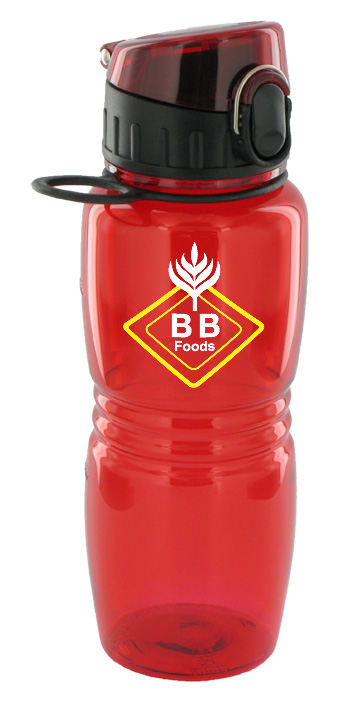 17 oz splash sports bottle - red