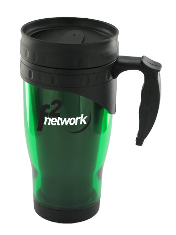 16 oz traveler insulated travel mug - green