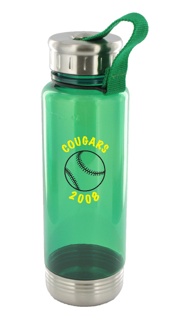 24 oz venture sports bottle - green