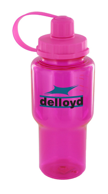 22 oz yukon polycarbonate bottle - pink