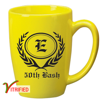14 oz Houston Endeavor Customized Mug - Lemon Yellow