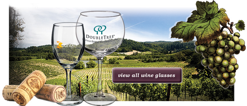 Personalized Wine Glasses & Stemware